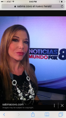Sabina Covo News Anchor Mundofox