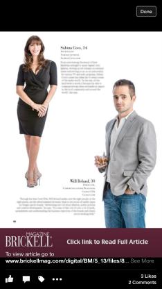 Sabina on Brickell Mag Cover