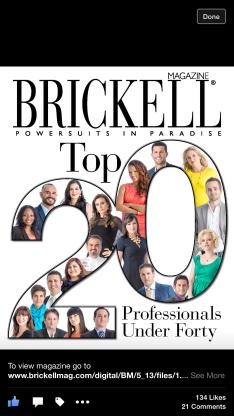 Sabina on Brickell Magazine